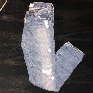 Women's size 5 Hollister destroyed denim jeans